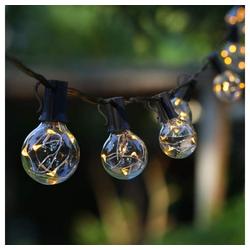 GlobaLink LED-Lichterkette, Lichterkette Außen verlängerbar, GlobaLink Lichterkette Glühbirnen IP65 30 Birnen G40 11,7M (1 Ersatzbirnen) Innen und Außen Deko mit stecker für Zimmer, Bar, Garten, Balkon, Sommerabend-Warmweiß