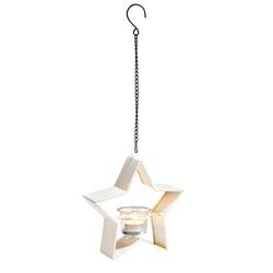 VBS Windlicht Stern, inkl. Teelichtglas, 19 cm x 18,5 cm