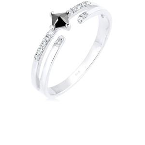 Elli Ring Damen Modern mit Zirkonia Steinen mit Swarovski Kristall in 925 Sterling Silber