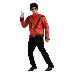 Halloween Adult Michael Jackson Thriller Jacket Deluxe Halloween Costume M, Adult Unisex, Size: Medium, Black/Grey/Red