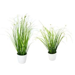 Kunstpflanze Grasbusch, I.GE.A., Höhe 18 cm, 2er Set