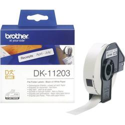 Brother DK-11203 Etiketten Rolle 17 x 87mm Papier Weiß 300 St. Permanent DK11203 Ordnerregister-Eti