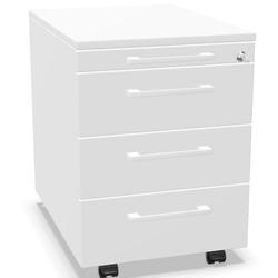 Palmberg Rollcontainer ORGA PLUS 1-3-3-3 mit Griffen - viele Farben