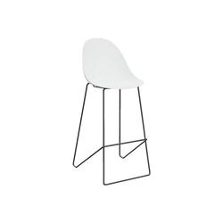 PAPERFLOW Barhocker Void (2er-Set), mit fester Sitzschale weiß