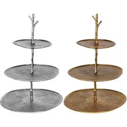 Etagere aus Metall - Gold oder Silber - Dekoetagere Dekoration Vintage 45cm