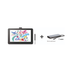 Wacom One 13 Stift-Display + Belkin USB-C-Hub