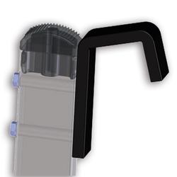 Zarges Spezialhaken mit Kunststoffüberzug für flache Auflage 150mm