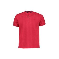 Lavard Poloshirt mit dunkelblauen und roten Tupfen rot L