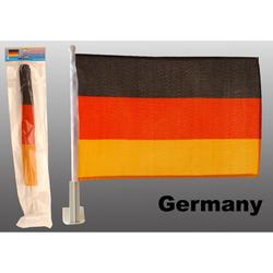 2x Auto Deutschlandfahne WM / EM Fahne für Auto