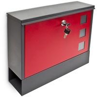 Relaxdays Design Metall schwarz/rot