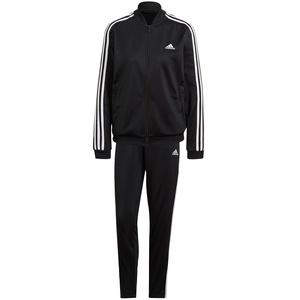 adidas Damen Essentials 3-Streifen Trainingsanzug, Black/White, M
