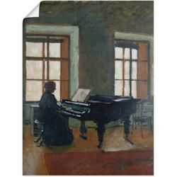 Artland Wandbild Am Klavier. 1910, Instrumente (1 Stück) 60 cm x 80 cm