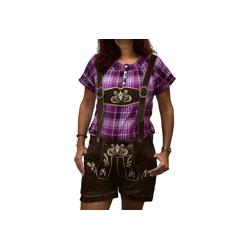 Engelleiter Trachtenlederhose Damen Ledershort braun (verstellbare Träger, abnehmbare Träger) 36