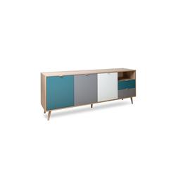 HTI-Living Sideboard Sideboard Cuba mit 5 Fächern und 2 Schubladen, Sideboard