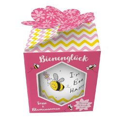 Tasse & Blumensamen Bienenglück I'm Bee Happy