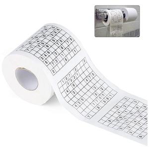Sudoku Toilettenpapier, Durable Toilettenpapier Holzzellstoff Neuheit Lustige Nummer Sudoku Gedrucktes Bad Lustiges Toilettenpapier
