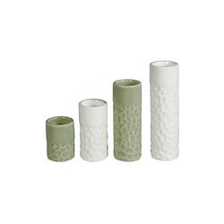 HTI-Living Teelichthalter Teelichthalter Porzellan 4er Set