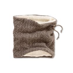 Loop-Schal mit Zopfstrickmuster