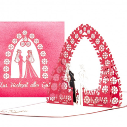 Colognecards Pop-Up Karte Lesbian Wedding