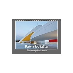 Moderne Architektur - Oscar Niemeyer Kulturzentrum (Tischkalender 2021 DIN A5 quer)