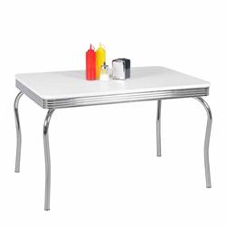 Retro Esstisch in Weiß Aluminium Retro