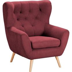 Home affaire Sessel VOSS, mit moderner Knopfheftung rot