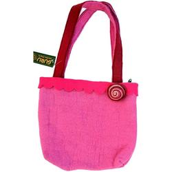 Guru-Shop Handtasche Boho Filztasche - pink rosa