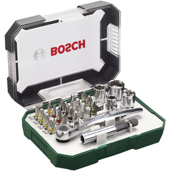BOSCH Bit-Set, 27-St., mit Ratsche und Winkelschrauber