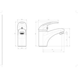 Schütte Waschtischarmatur Aqua2Save Waschtischarmatur Wasserhahn