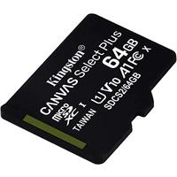 Kingston miroSDXC Canvas Select Plus 64GB Class 10 UHS-I A1 V10