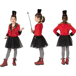 Kostüm Zirkusdirektor schwarz/rot Gr. 116 Mädchen Kinder
