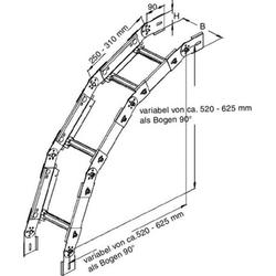 Niedax Verstellbarer Bogen KGS 60.503