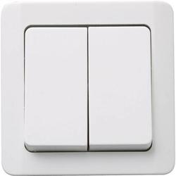 GAO Einsatz Serienschalter Nova Aufputz Weiß 0330