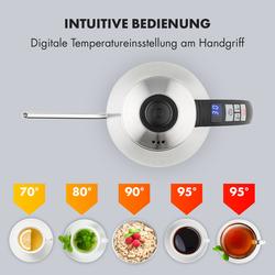 Garcon Wasserkocher 1L 2000W Warmhaltefunktion Schwanenhals Edelstahl