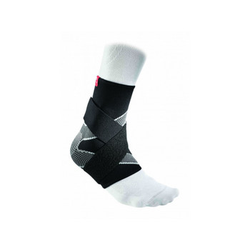 McDavid Ankle Sleeve / 4-way elastic w/ figure-8 straps 5122 M, Schwarz