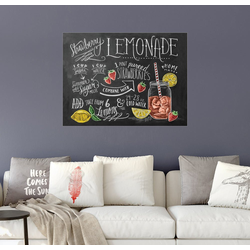 Posterlounge Wandbild, Erdbeerlimonade Rezept (Englisch) 70 cm x 50 cm