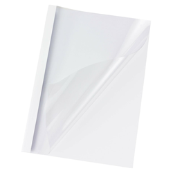 Thermobindemappen A4, 8mm für 80 Blatt, Chromolux weiß, 100 Stk.