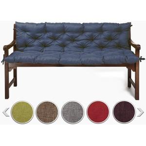 sunnypillow Bankauflage Stuhlkissen Bankkissen 150 x 50 x 50 cm Sitzkissen und Rückenkissen für Hollywoodschaukel Polsterauflage Auflage für Gartenbank viele Farben und Größen zur Auswahl Blau