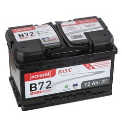 Accurat Basic B72 Autobatterie 72Ah
