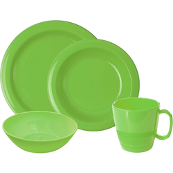 WACA Frühstücks-Geschirrset (8-tlg), Kunststoff grün