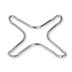 Metaltex Gasherdaufsatz, verchromt, Herdkreuz für die Nutzung von Minitöpfen und Espressokochern auf dem Gasherd, 1 Packung = 2 Stück, 10 x 10 cm