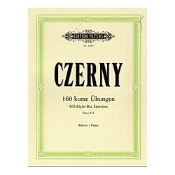 160 kurze Übungen op.821  Klavier. Carl Czerny  - Buch