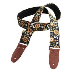 Bourbon Strap Jeans Flower Gitarrengurt Stickerei 85 bis 153 x 5cm