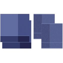 DDDDD Geschirrtuch Blend, (Set, 4-tlg), Combiset_ 2 Küchentücher & 2 Geschirrtücher lila