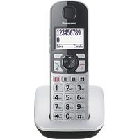 Panasonic Telefon DECT-Telefon Anrufer-Identifikation Silber