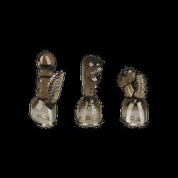EIS Vielseitige Massageaufsätze, 3 Stück, 8,6-12,5 cm