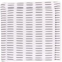 KraftKids Wickelauflage graue Striche auf Weiß, Wickelunterlage 75x70 cm x 70 cm