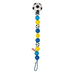 Goki 63600 - Schnullerkette Fußball blau Holz