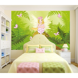 Bilderdepot24 Deco-Panel, selbstklebende Fototapete - Kinderbild - Fee bunt 225 cm x 150 cm