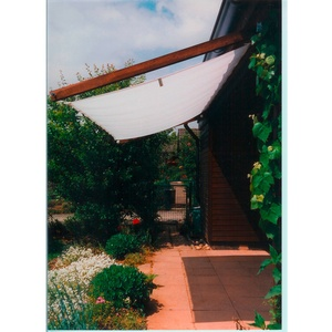 Floracord Pergola Bausatz inkl. Sonnensegel Weiß 330 cm